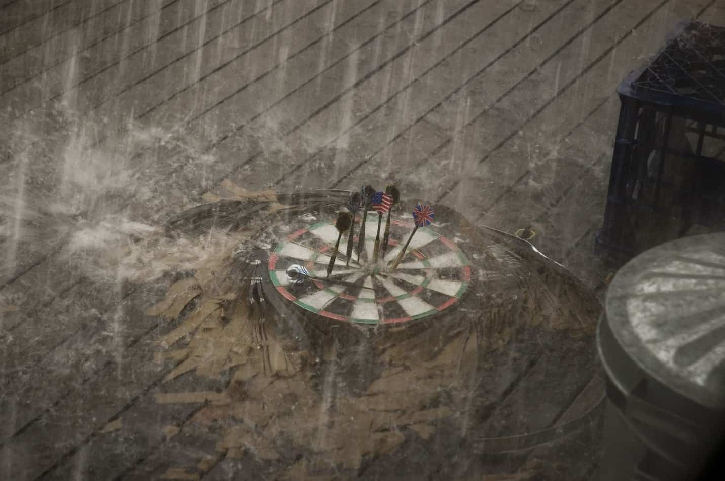 can dartboards get wet