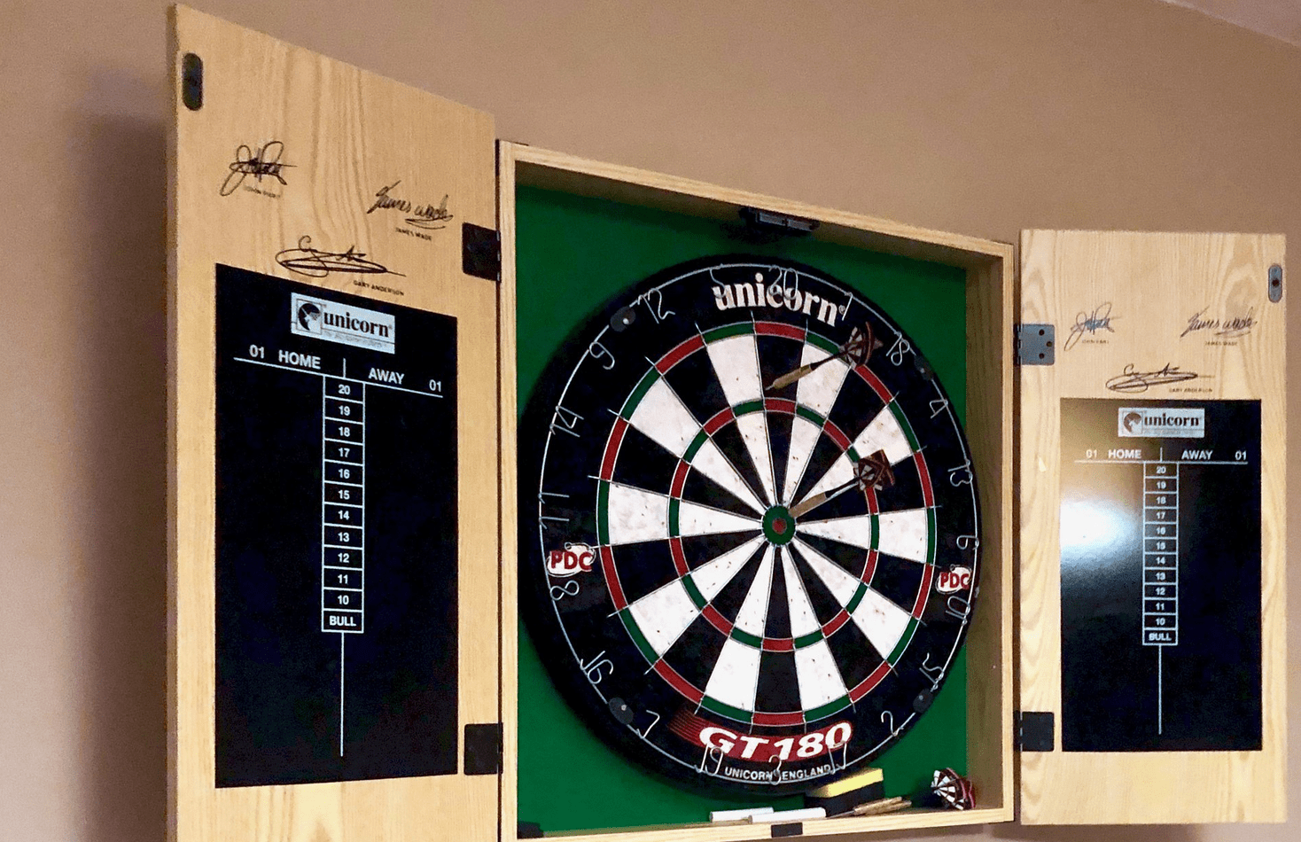 how to hang a dartboard on drywall