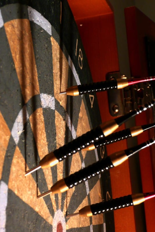 why do my darts go in sideways