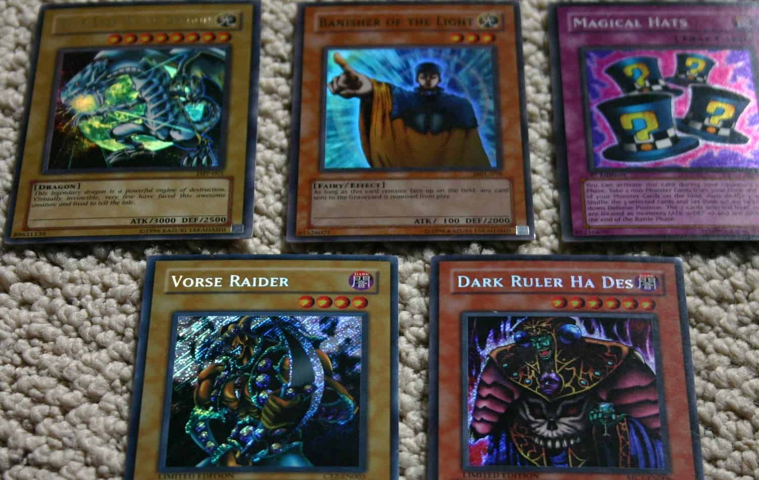 why do yugioh cards bend