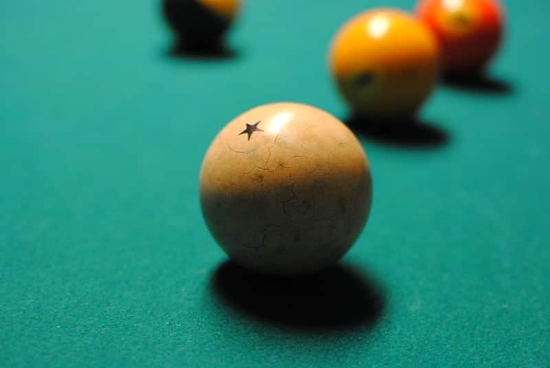 yellow pool balls