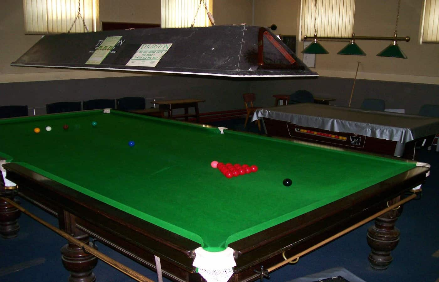 how often should a snooker table be ironed