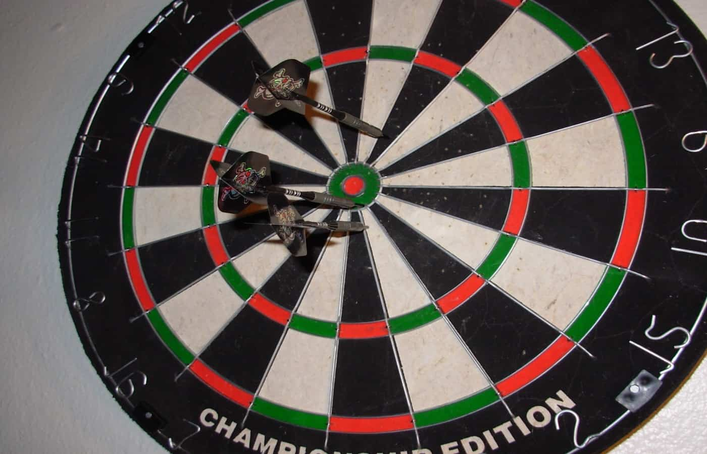 how to hang a dartboard on concrete