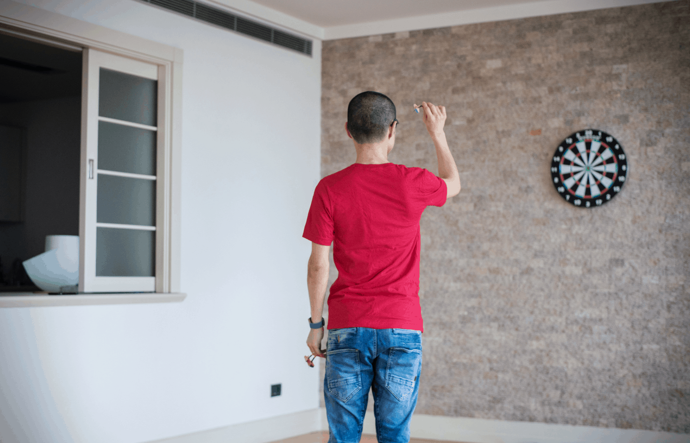 how to hang a dartboard in an apartment
