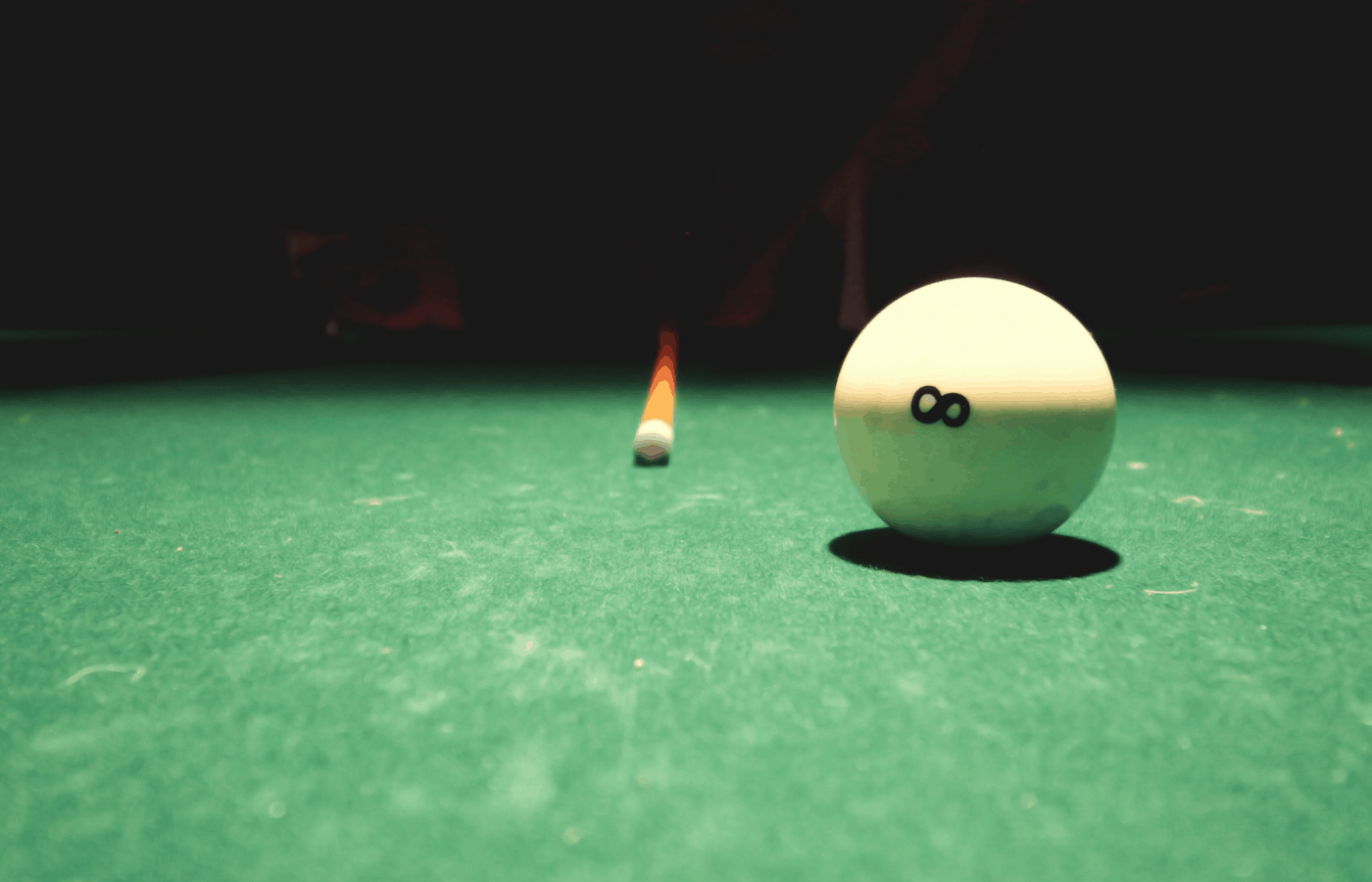 how to remove burn marks from pool table felt