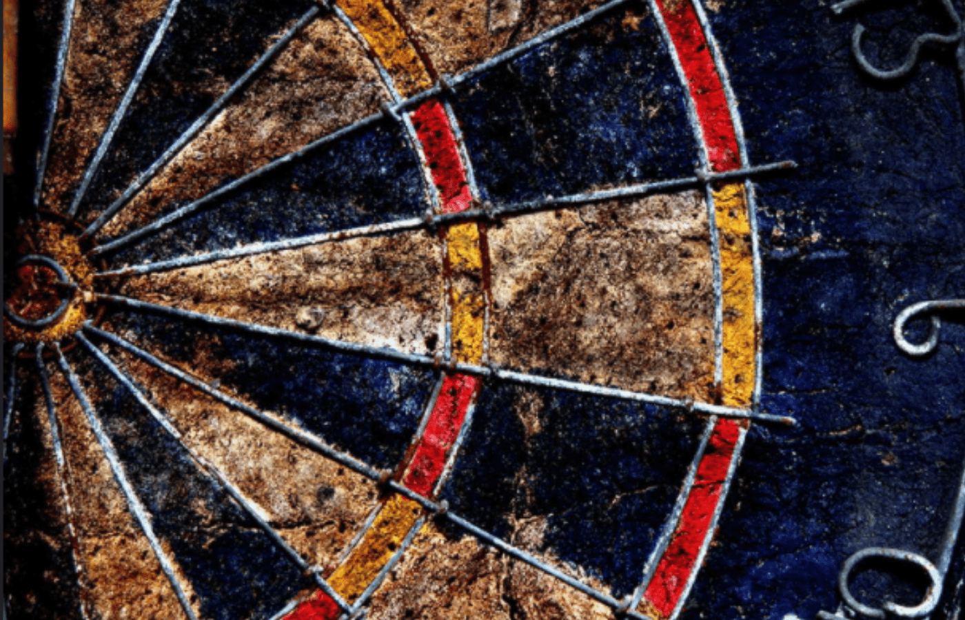 how to remove mold from a dartboard