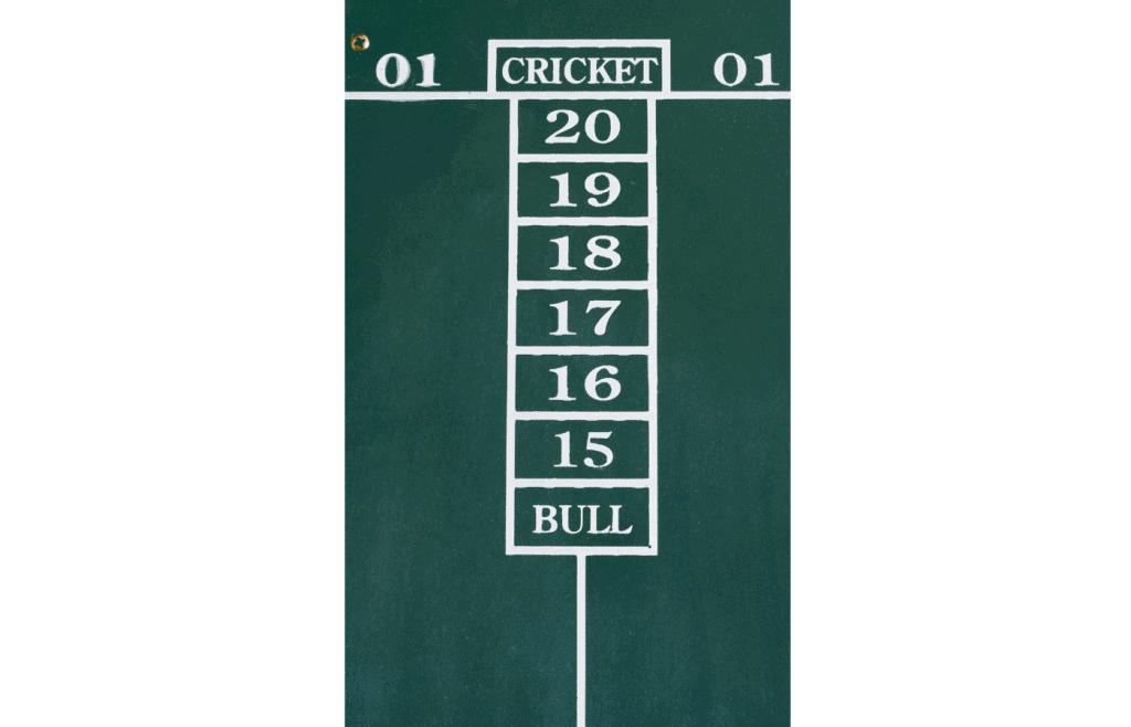 keep score in english cricket darts