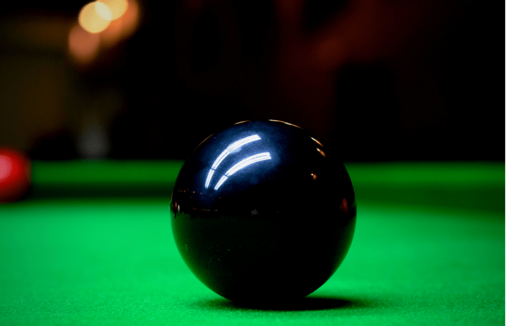 when will snooker players pot the black ball