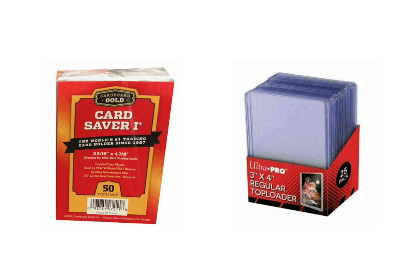 are card savers better than top loaders