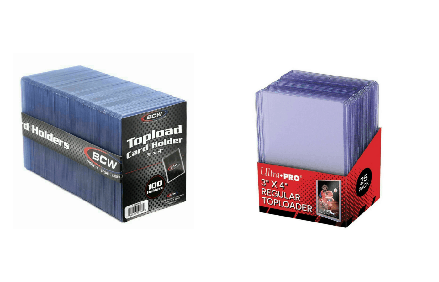 do top loaders bend cards