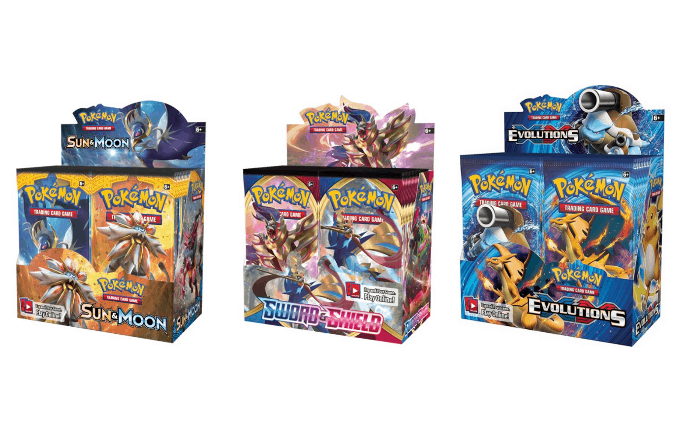 are pokemon booster boxes still mapped