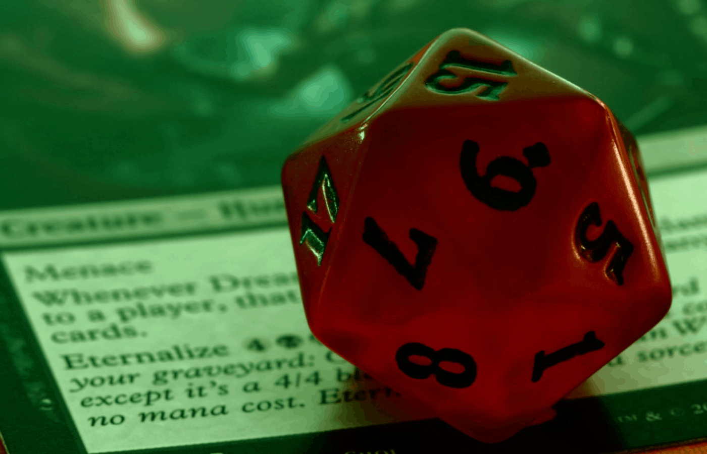does magic the gathering use dice