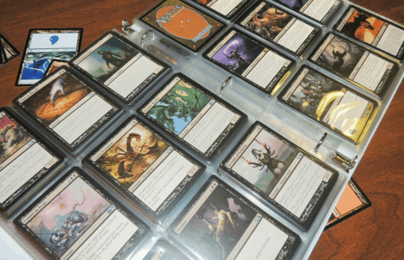 how to clean magic the gathering cards