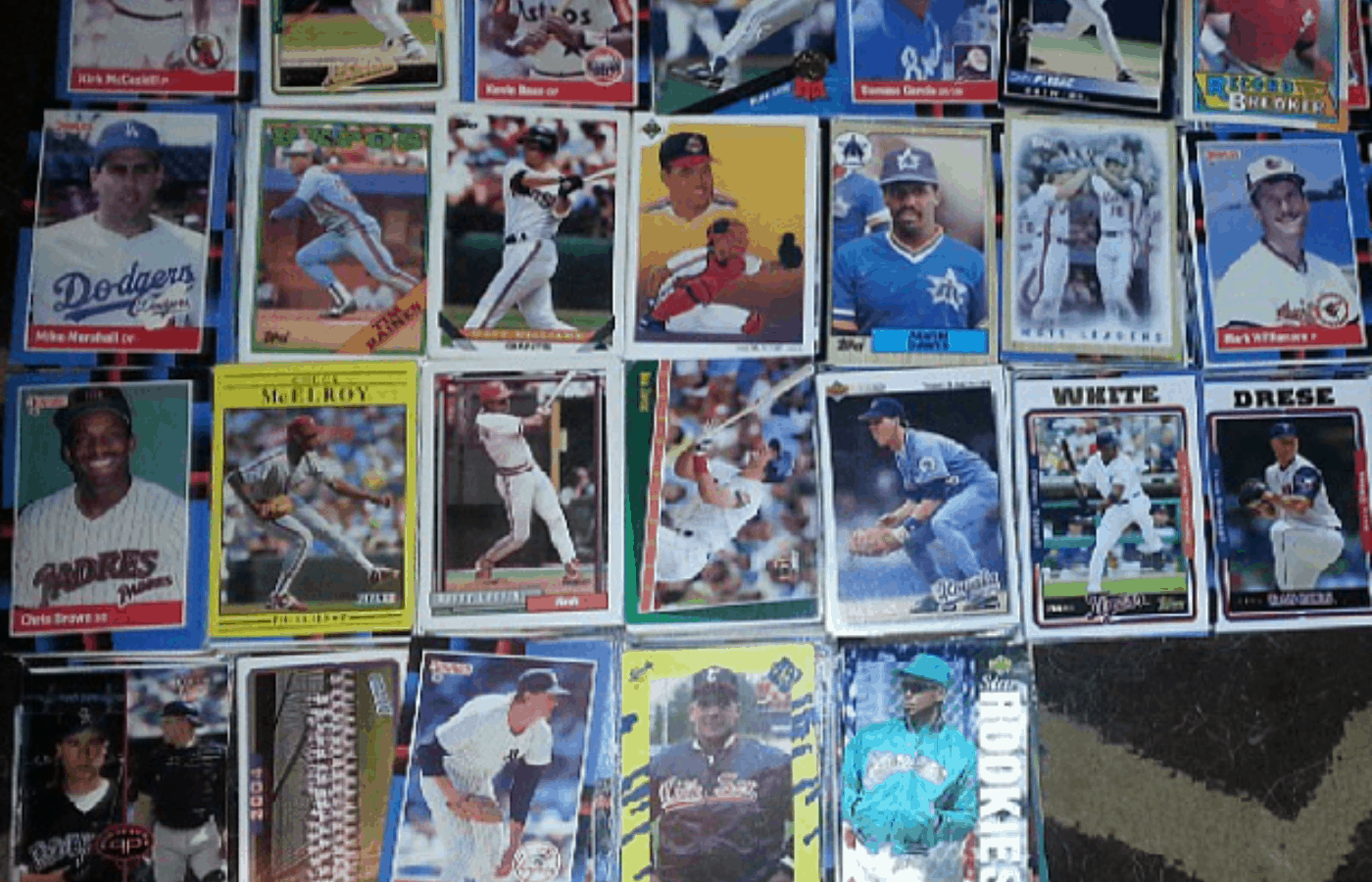 how to fix warped baseball cards