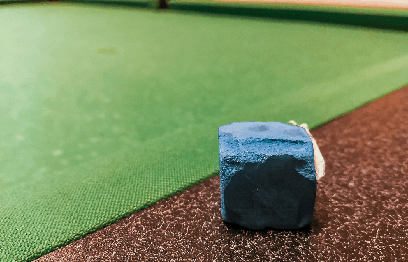 how to get pool chalk out of carpet