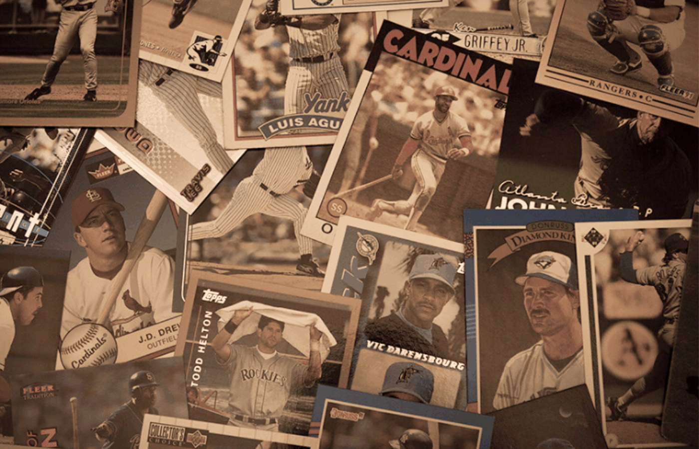 how to handle old baseball cards