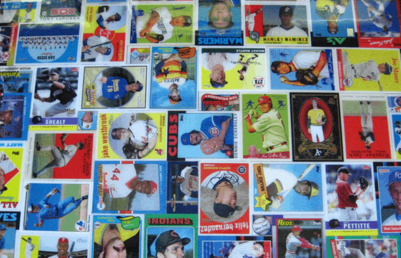 how to remove glue from baseball cards