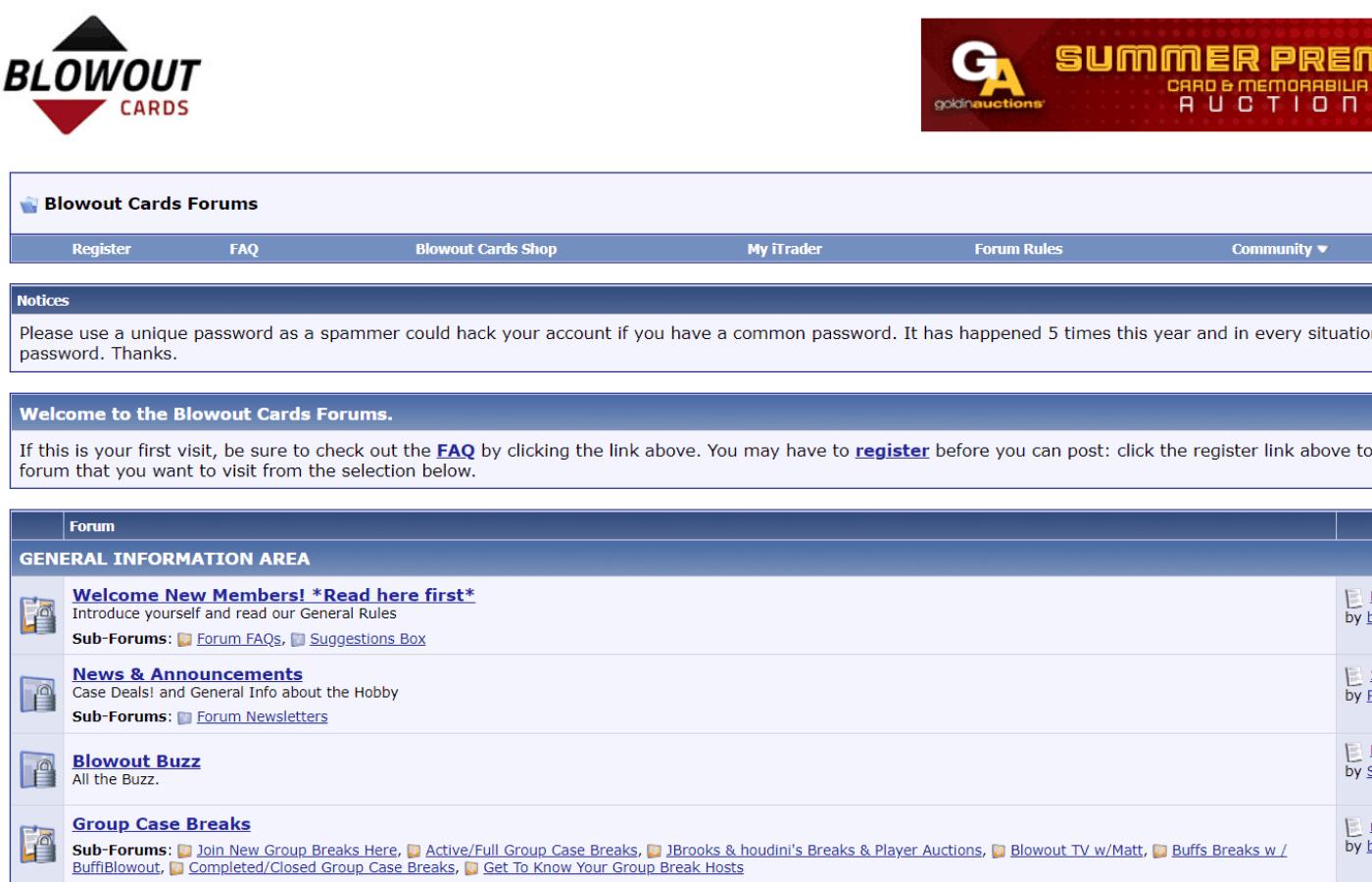 best sports card forums