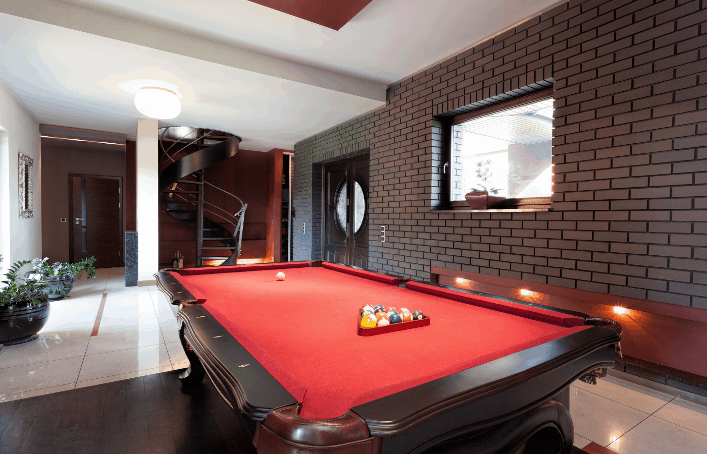 will a pool ball crack a tile