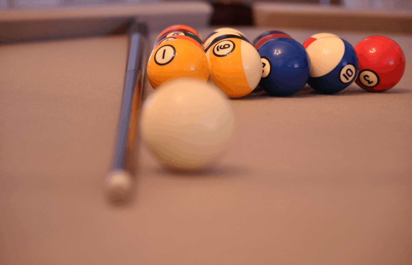 how to clean ivory pool balls