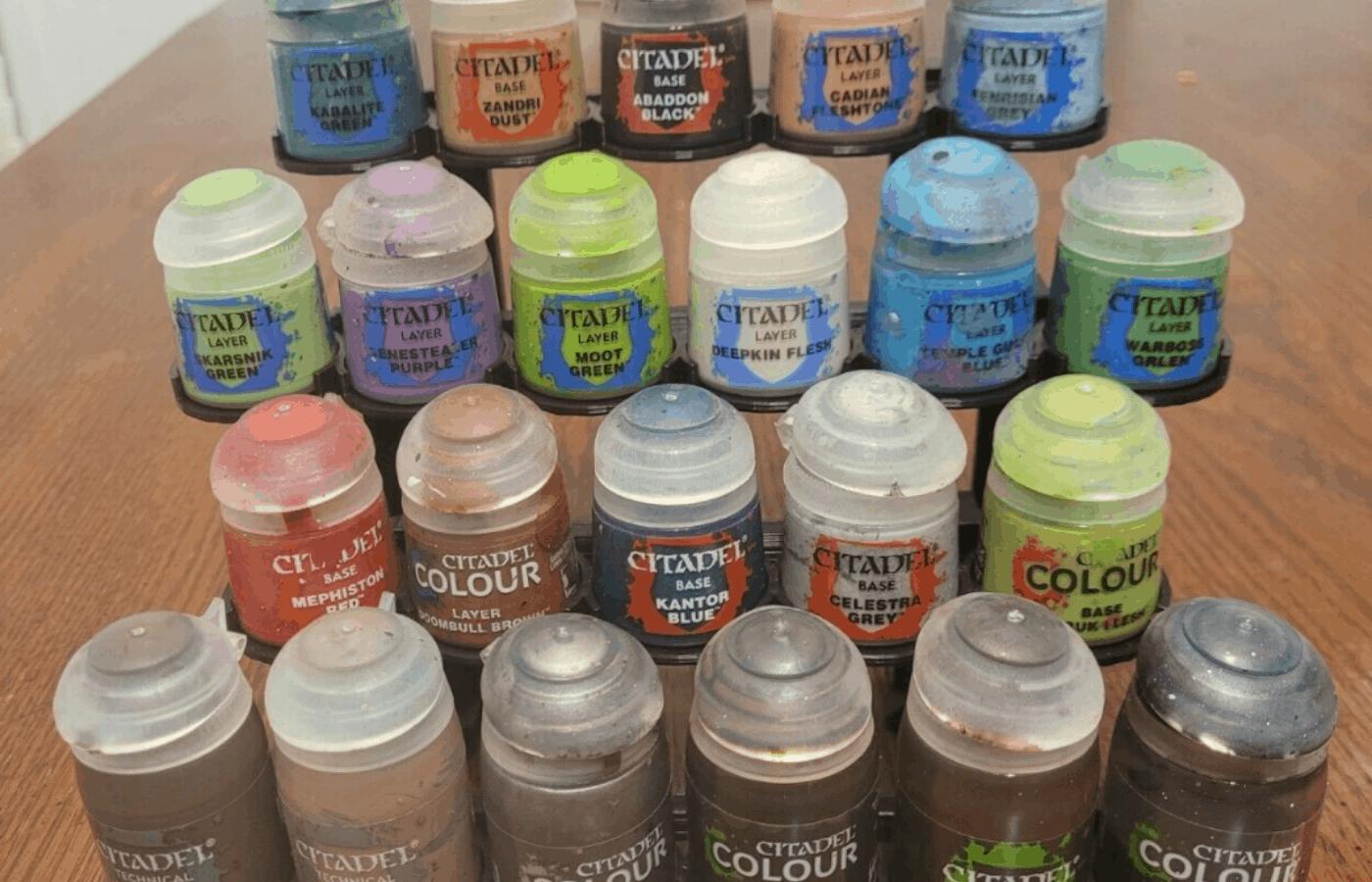 How to Clean Citadel Paint Pots